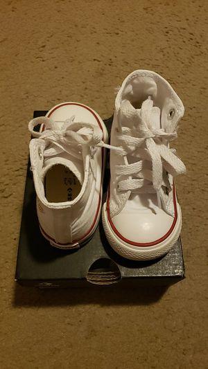 Toddler white converse for Sale in San Antonio, TX