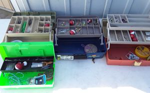 Fishing tackle box $15 each for Sale in Fresno, CA