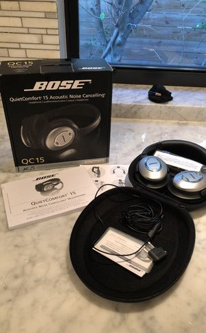 BOSE quiet comfort 15 acoustic noise cancelling headphones for Sale in Miami, FL
