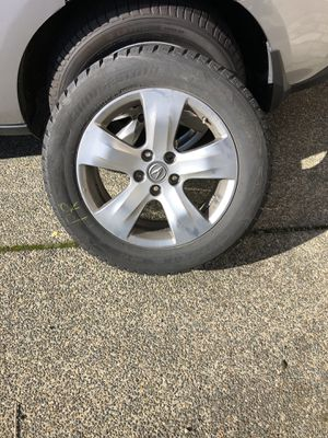 2007-2013 Acura MDX wheels and BLIZZAK SNOW TIRES & WHEELS! $800 for the set of 4 wheels and tires for Sale in Renton, WA