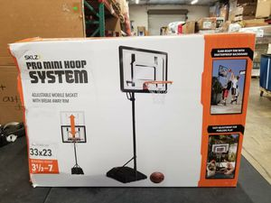 "SKLZ Pro Mini Basketball Hoop System with Adjustable Height 3.5'-7', Inlcudes 7"" Mini Ball $105 FIRM for Sale in Redlands, CA"
