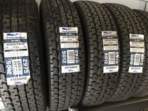 TRAILER TIRES FOR SALE SIZE 205/75/14 FOR $395 ALL FOUR PLUS TAX for Sale in Puyallup, WA