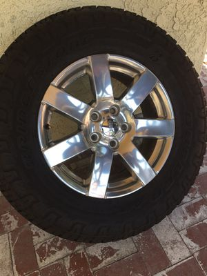Jeep wrangler wheels and tires. (5) for Sale in Pasadena, CA