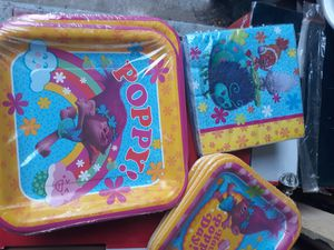 New Trolls party supplies $1.50 each! for Sale in Houston, TX