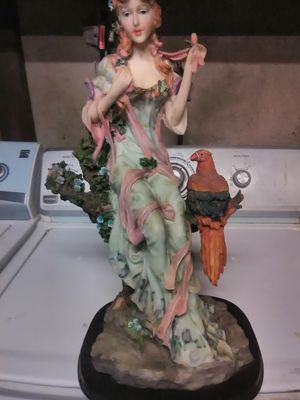 The Monet Collection Statue, Lady with Parrot for Sale in Fresno, CA