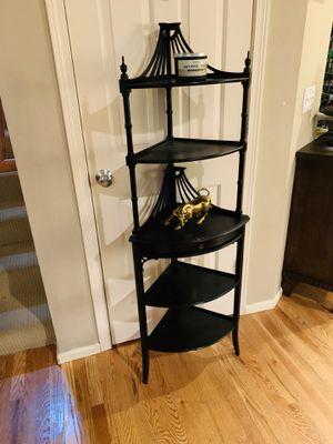 Art Deco Etagere Chippendale 5-Tier Corner Shelf for Sale in Redmond, WA