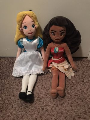 Moana & Alice Plushies for Sale in Denton, TX