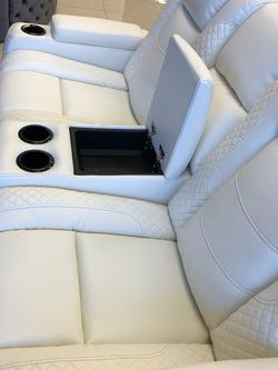 In Stock Party Time White LED Power Reclining Sofa And Loveseat for Sale in College Park,  MD