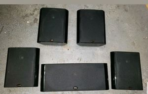 Polk audio surround sound 5 monitor bookshelf speakers for Sale in Missouri City, TX