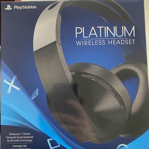 Sony Platinum Play Station Wireless Headphones for Sale in College Station, TX