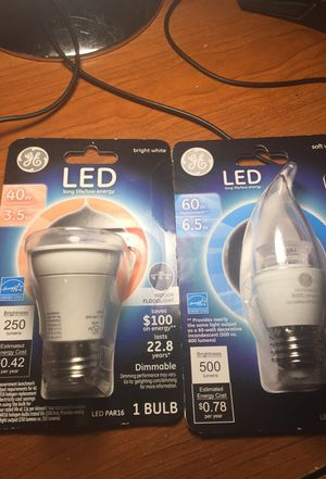 2 LED Bulb 40w and 60w for Sale in Columbus, OH