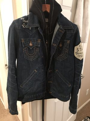 True religion denim varsity jacket for Sale in Las Vegas, NV