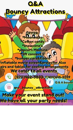 Q&A Bouncy Attractions for Sale in Riverdale,  GA
