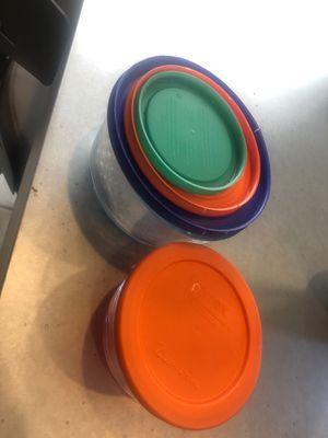 Pyrex round storage bowls for Sale in Las Vegas, NV