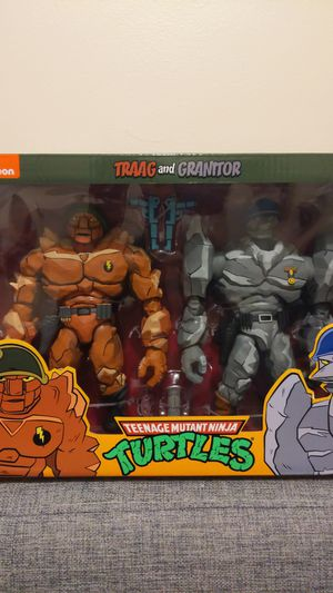 Neca teenage mutant ninja turtles traag and granitor for Sale in Chicago, IL