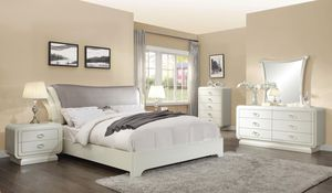 Queen Bed, Nightstand, Mirror, Dresser & Chest for Sale in The Bronx, NY
