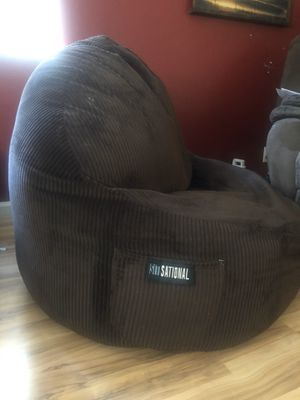 Beanbag style, game chair. Dark brown in color with corduroy fabric. Very comfy chair. Just don't have the room for it. for Sale in San Jose, CA