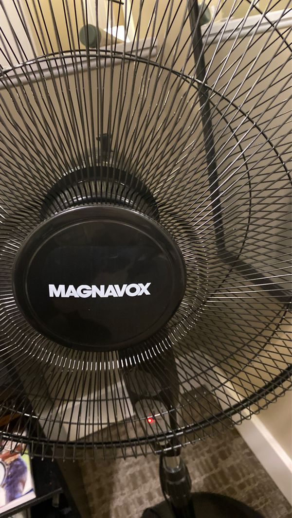 Remote controlled magnavox oscillating fan