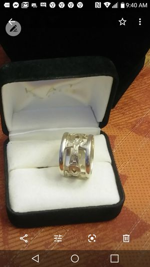 925 silver S heave Ring with desing for Sale in Tamarac, FL