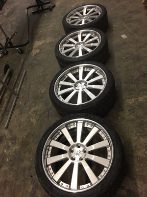"""22"""" HRE Rims 5x120 with tires - Rare, One of a kind for Sale in Apex, NC"""