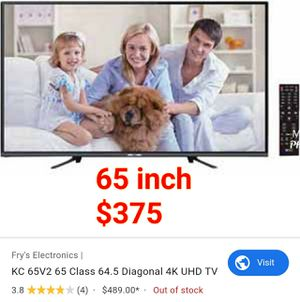 """65 inch 4K Ultra UHD tv!! Best deal you'll ever get for a 65"""" tv with warranty for Sale in Orange, CA"""
