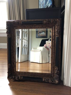 Beveled mirror with wood frame. for Sale in Nashville, TN