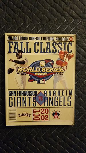 World Series October 2002 Angels vs Gaints for Sale in Norco, CA