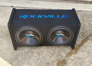"""Rockville dual 12"""" box for Sale in Saint Charles, MD"""