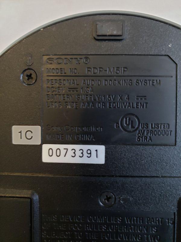 Sony Model RDP-M7IPN iPhone Lighting Speaker Dock Black