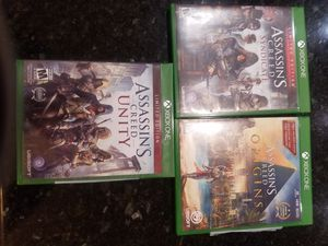 Xbox One Assassins Creed bundle for Sale in Menifee, CA