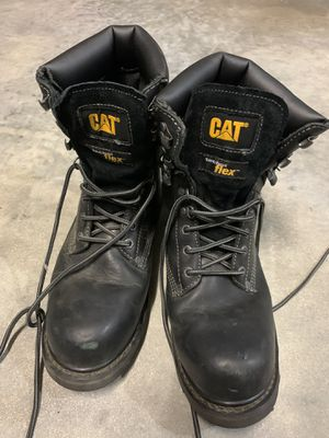 CAT Steel Toe Leather Work (Boots Like New) for Sale in Naples, FL