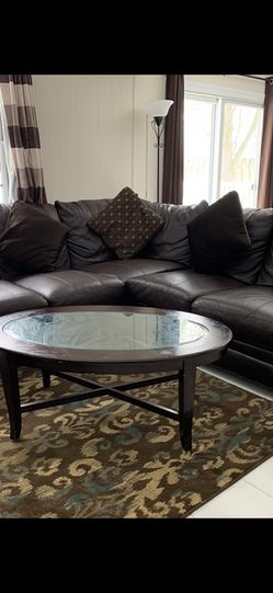 Long brown Leather sofa for Sale in East Brunswick,  NJ