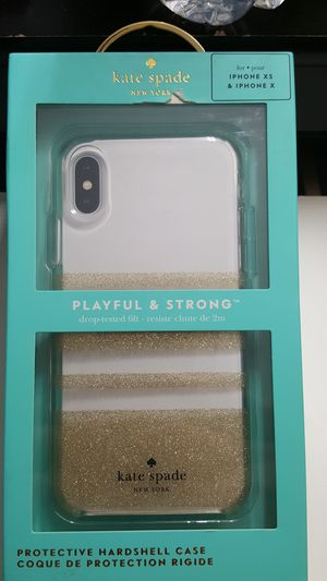 """Case kate spade for iphone x/xs 5.8"""" clear-gold glitter new openbox 12firm now ship out of the town for Sale in Phoenix, AZ"""