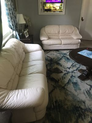 White leather couch and love seat for Sale in Edgewater, FL
