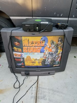 31 inch toshiba CRT with xbox neo geo mod 150 games for Sale in Palmdale, CA