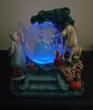 Disney Cinderella light up dress Musical Snowglobe Collectible Globe statue for Sale in Placentia, CA