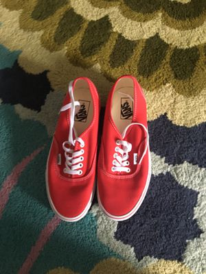 Vans red. 8.5 for Sale in Waltham, MA