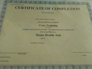 NEW Home Health Aide HHA 84 Hours Certificate of Completion Package for Sale in The Bronx, NY