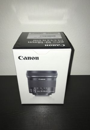 Canon EFS 10-18mm Brand New Never Used image stabilizer for Sale in Lynnwood, WA