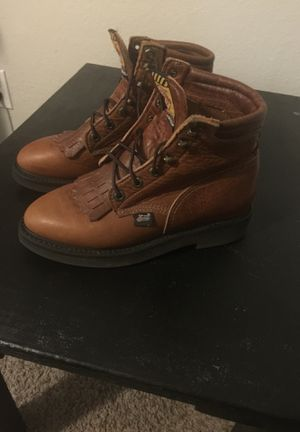 Justin ladies work boots like new unused size7 for Sale in Spring Hill, FL