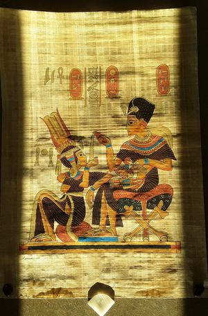 3 .. Genuine Egyptian Papyrus with artist stamp and Certificate of Authenticity for Sale in Biloxi, MS
