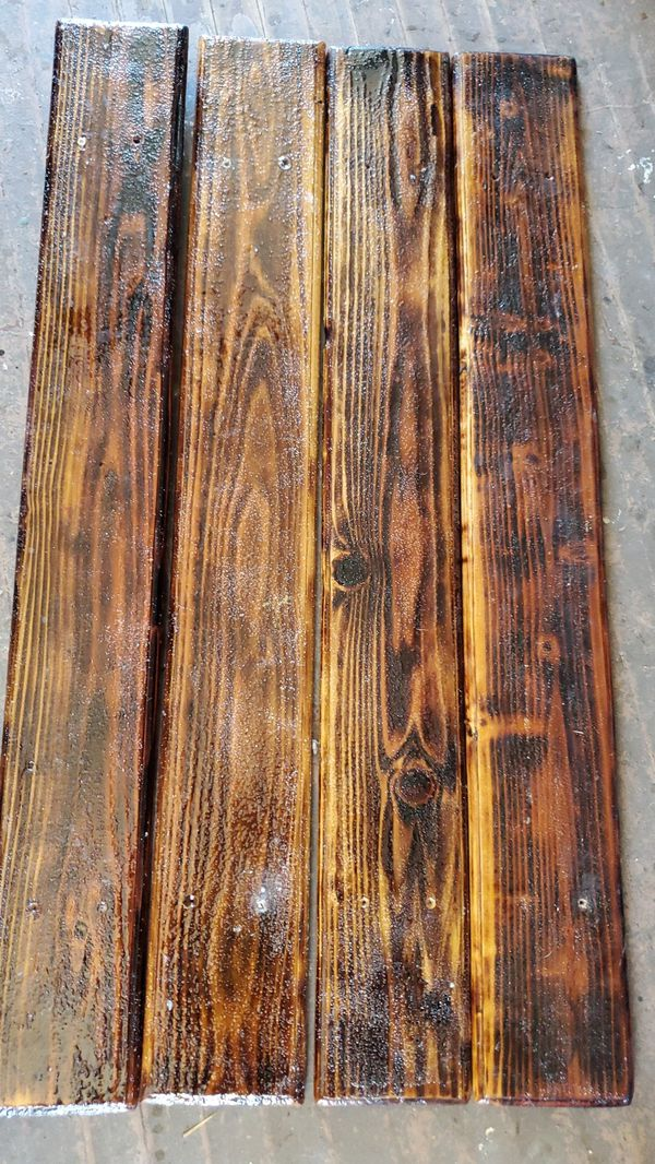 Wood grain trim for 2 axle trialor fenders or boat deck ect