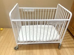 Folding Crib, Mattress & Cover made of cotton included for Sale in Los Angeles, CA