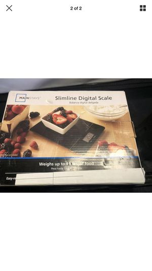 Mainstays Slimline Digital Food Kitchen Scale up to 11 Lbs Black (17c) for Sale in North Little Rock, AR