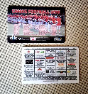 Football Fundraiser Card - Vancouver/Camas Area for Sale in Camas, WA