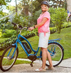 """New!! Bike, electric bike, 7 speeds 26"""" wheels unisex electric bike, male bicycle, fe,ale bicycle, bicycle , blue for Sale in Phoenix, AZ"""