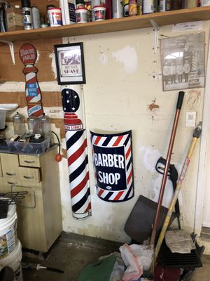 Antique barber signs $500 each firm for Sale in Walnut Creek, CA