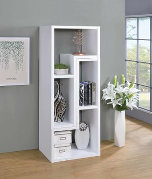Contemporary White Finish Modular Convertible TV Stand and Bookcase for Sale in San Diego, CA