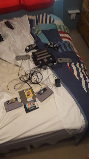 Retro video games with console and controllers for Sale in Victoria, TX