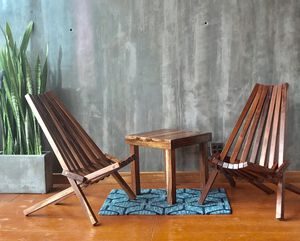 High quality Solid Caribbean walnut chairs pool patio chair for Sale in Chula Vista, CA